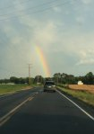 A rainbow on the drive