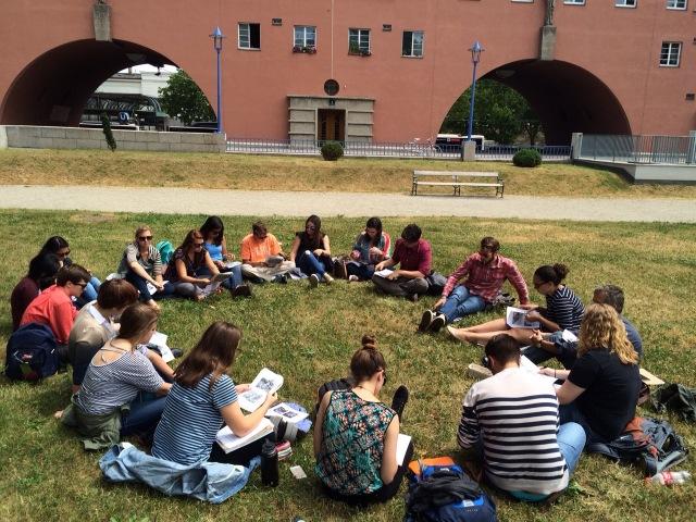 Figure 3. American Studies class at Karl-Marx-Hof_photo by Robert Lemon