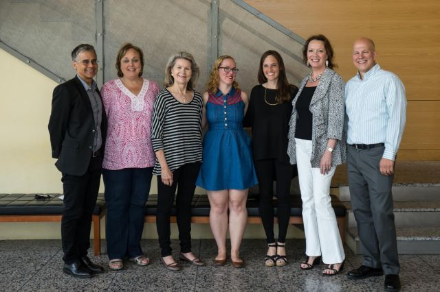 Steve Hoelscher; Mary Kimbrough*, Susan Auler*, Kerry Knerr, Elissa Underwood, Tracey Evers*, Marvin Bendele (Executive Director, Foodways Texas). * member of Les Dames D'Escoffier, Dallas Chapter