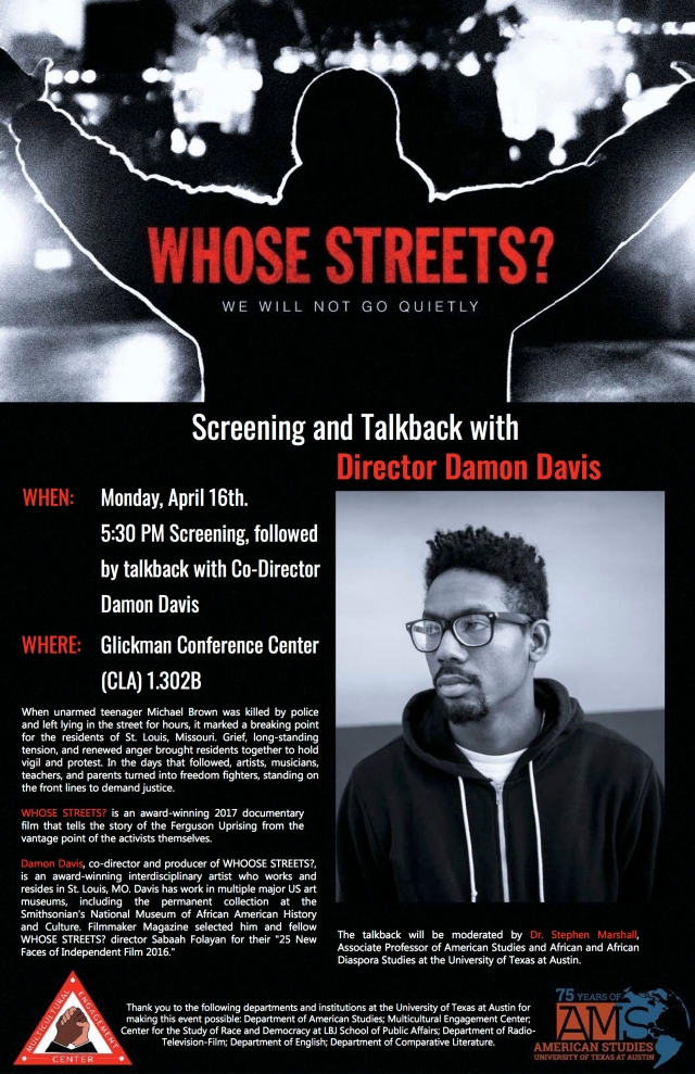 Whose Streets Event Poster