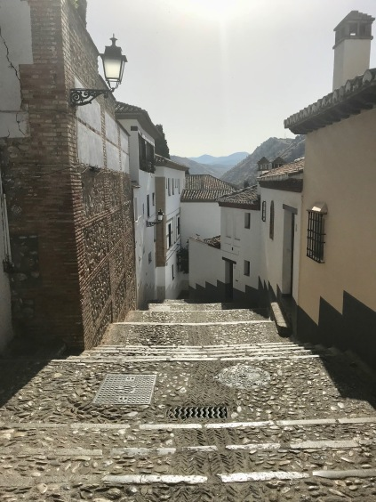 El Albaicín district in Granada, Spain