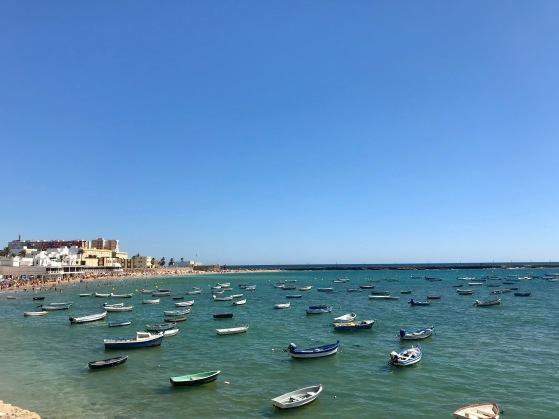 Playa De La Caleta, Cádiz, Spain