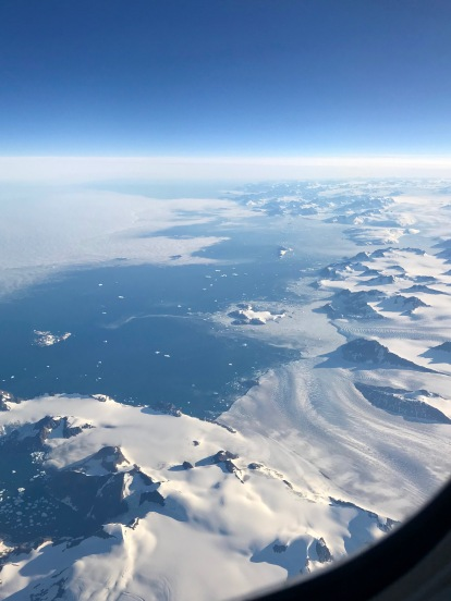 Views of Greenland during the return flight to the US